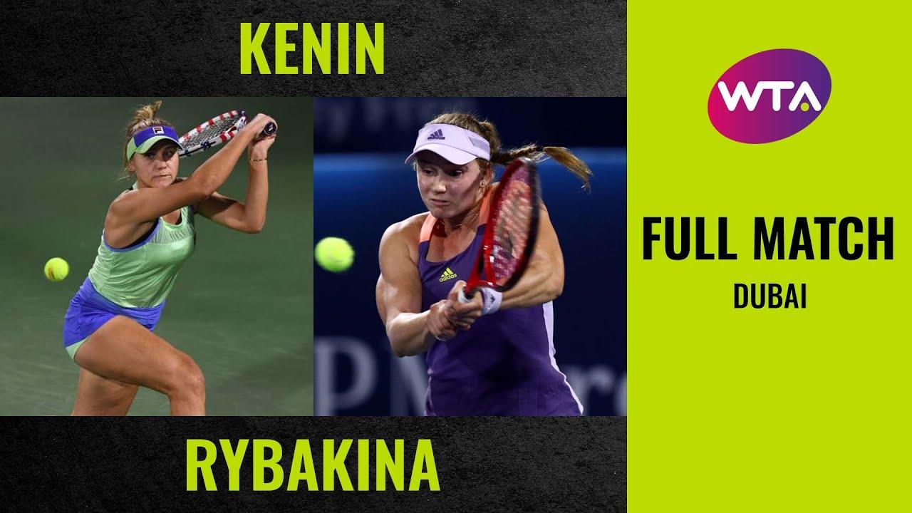 Sofia Kenin vs. Elena Rybakina | Full Match | 2020 Dubai Round of 32