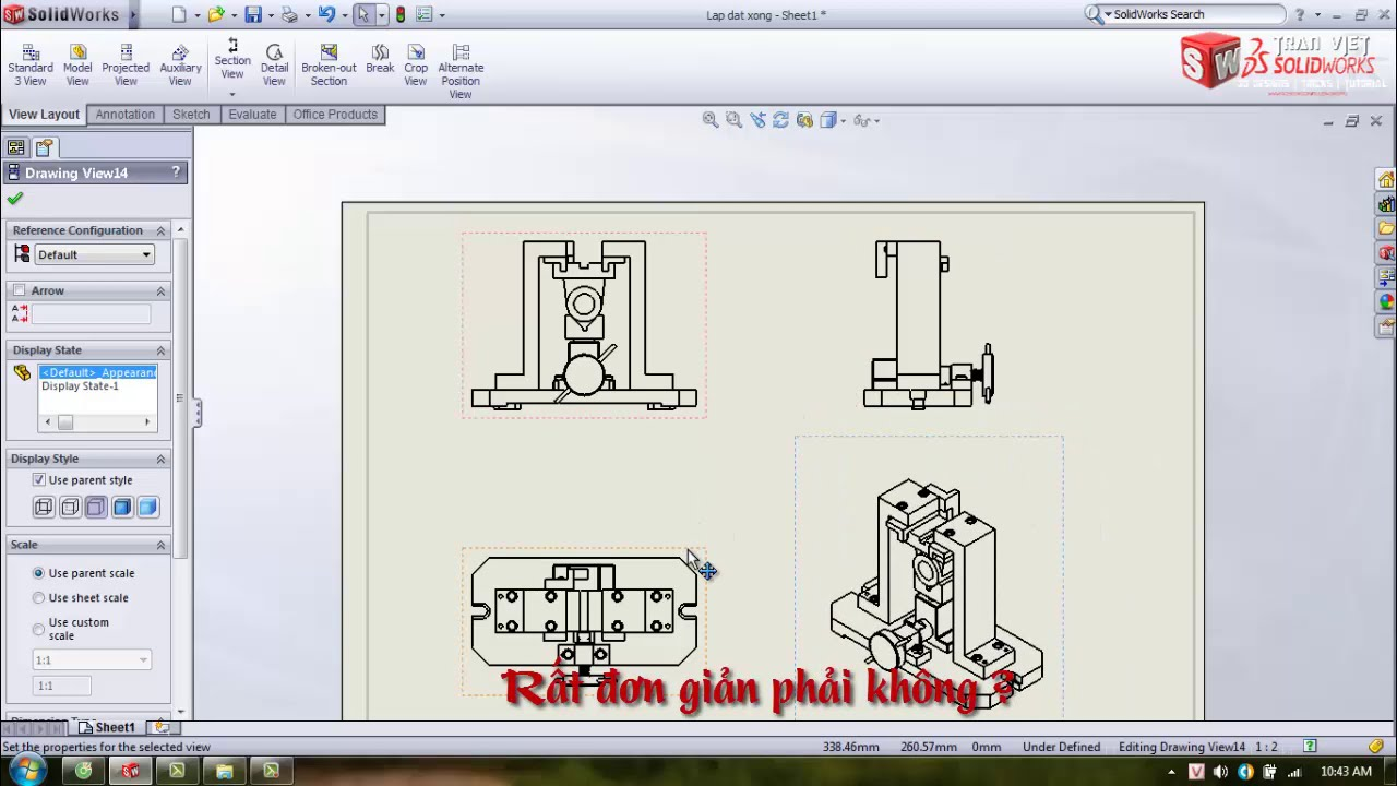 Solidworks Drawing troubleshooting – Khắc phục khi xuất 2D bị ngược trong Solidworks