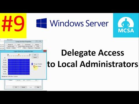 Phân quyền truy cập cho User trên Windows Server 2012|  Delegate Access to Local Administrators