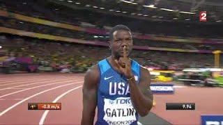 Mondiaux d'athlétisme : Gatlin fait taire Londres ! Vaincu, Bolt se contente du bronze !