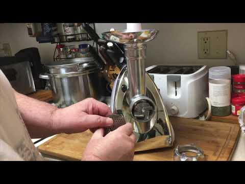 How To Put In The  Cutting Blade  In The  Winholder Meat Grinder