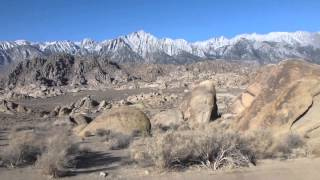 Eastern Sierra Mts. as seen from Alabama Hills