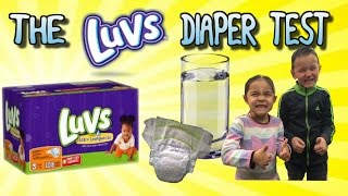 The Luvs Diaper Test