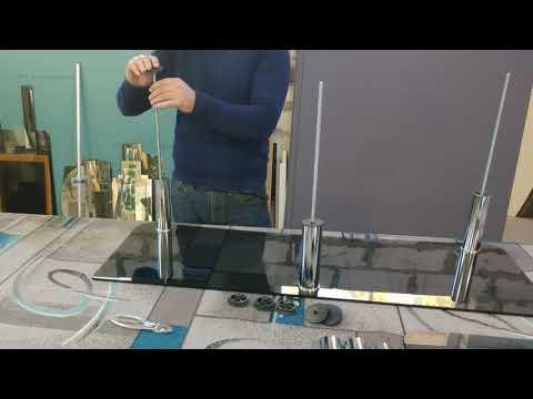 Как собрать стеклянную тумбу под телевизор