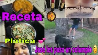 Pollo en Chipotle y Arroz /Jose hizo un columpio /PLATICA /Nuevo Maqullaje