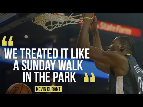 """Warriors Kevin Durant on Miami Heat win: """"We treated it like a Sunday walk in the park."""""""