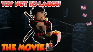 ROBLOX TRY NOT TO LAUGH CHALLENGE IN MOVIE🍿{PART 9}(IMPOSSIBLE)