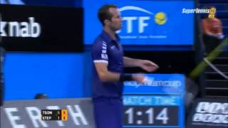 Jo-Wilfried Tsonga vs Radek Stepanek Hopman Cup 2014 - Highlights