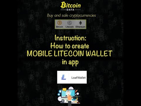 How To Create Litecoin Wallet In Application LOAFWALLET ( IOS )