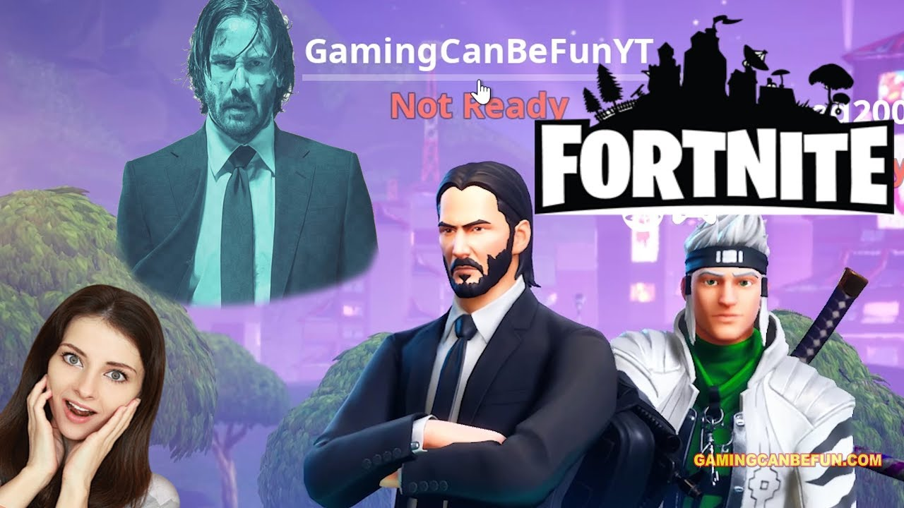 FORTNITE | JOHN WICK MOVIE VERSION (HIGH FRAME RATE IN 4K)