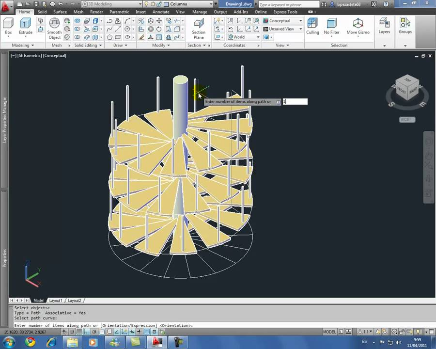 Escalera helicoidal 2012 youtube for Escaleras 3d max