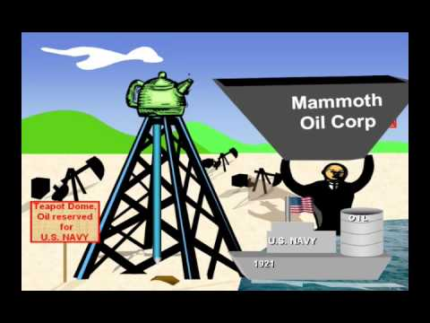 The Teapot Dome Scandal Youtube