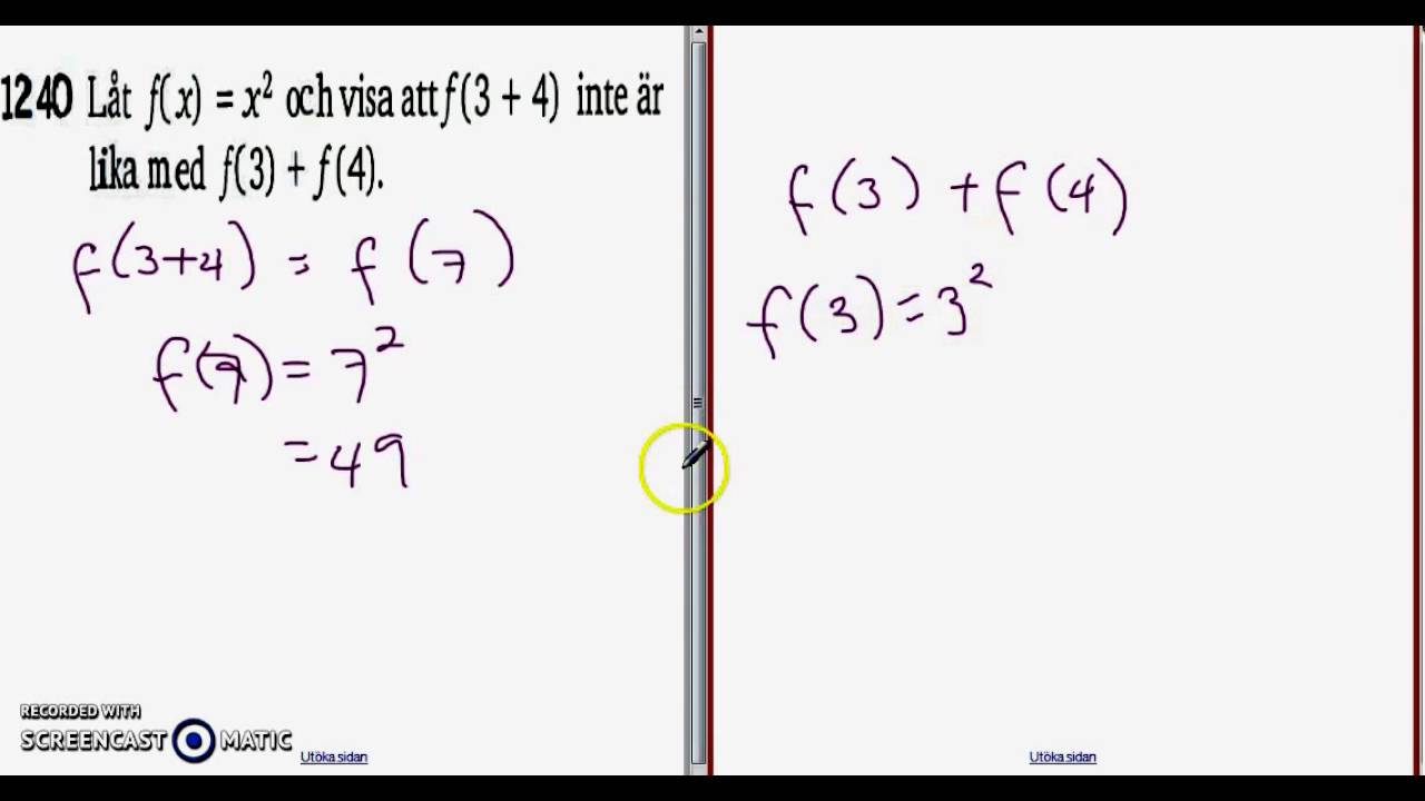 Matematik 5000 Ma 2bc VUX - Kapitel 1 - Mer om funktioner - 1240
