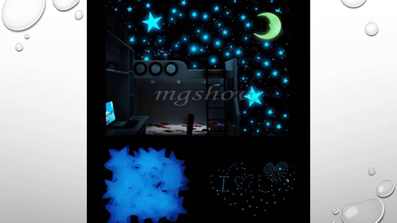 100x glow in the dark stars wall sticker kids bedroom nursery room 100x glow in the dark stars wall sticker kids bedroom nursery room ceiling decor youtube