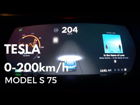 TESLA Model S 75 0-200km/h acceleration