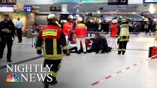 Germany Attack: 5 Injured In Ax Stabbings At Dusseldorf Train Station | NBC Nightly News