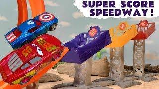 Disney Cars Toys Mcqueen Race Hot Wheels Marvel Avengers Vs Dc Superheroes With Funny Funlings Tt4u