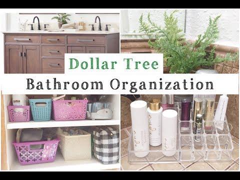 Dollar Tree Bathroom Organization | Organize With Me! | momma from scratch