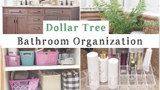 Dollar Tree Bathroom Organization | Organize With Me! | momma from scratch