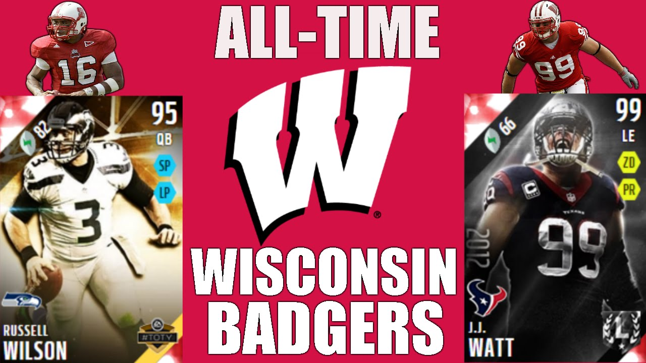 promo code 57b96 19cc0 All-Time Wisconsin Badgers Team - Russell Wilson and J.J. Watt! - Madden 16  Ultimate Team
