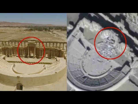 Footage: Russian drone shows damage to Syria's Palmyra