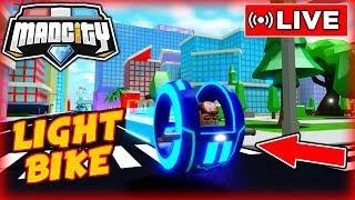 🚴 999.999 KM/H *LIGHT BIKE* FLIEGT?! - MAD CITY ROBLOX