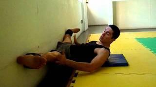 exercício para ABERTURA DE PERNAS - NA PAREDE