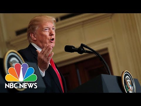 President Trump And Swedish PM Stefan Löfven Hold News Conference At White House | NBC News