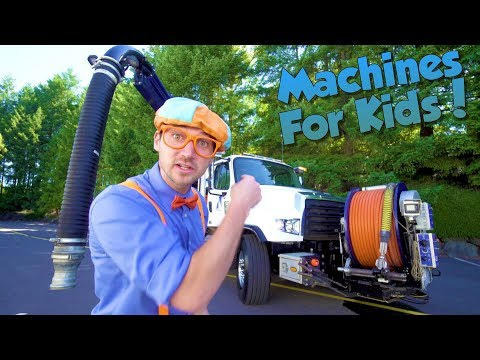 Machines for Kids with Blippi | Learn About Vacuum Trucks