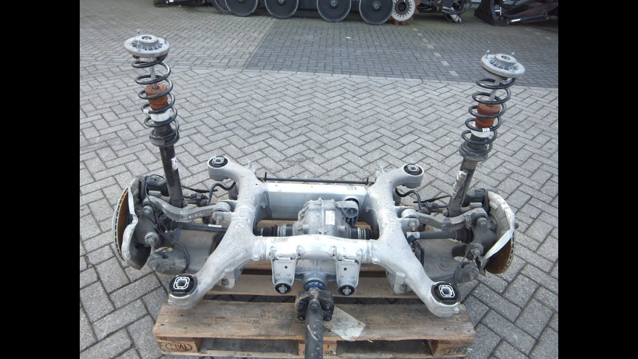 730346 BMW 520D F10 REAR AXLE CARRIER 6798545 COMPLETE W DIFFERENTIAL 7584450 SUSP AXLES 09