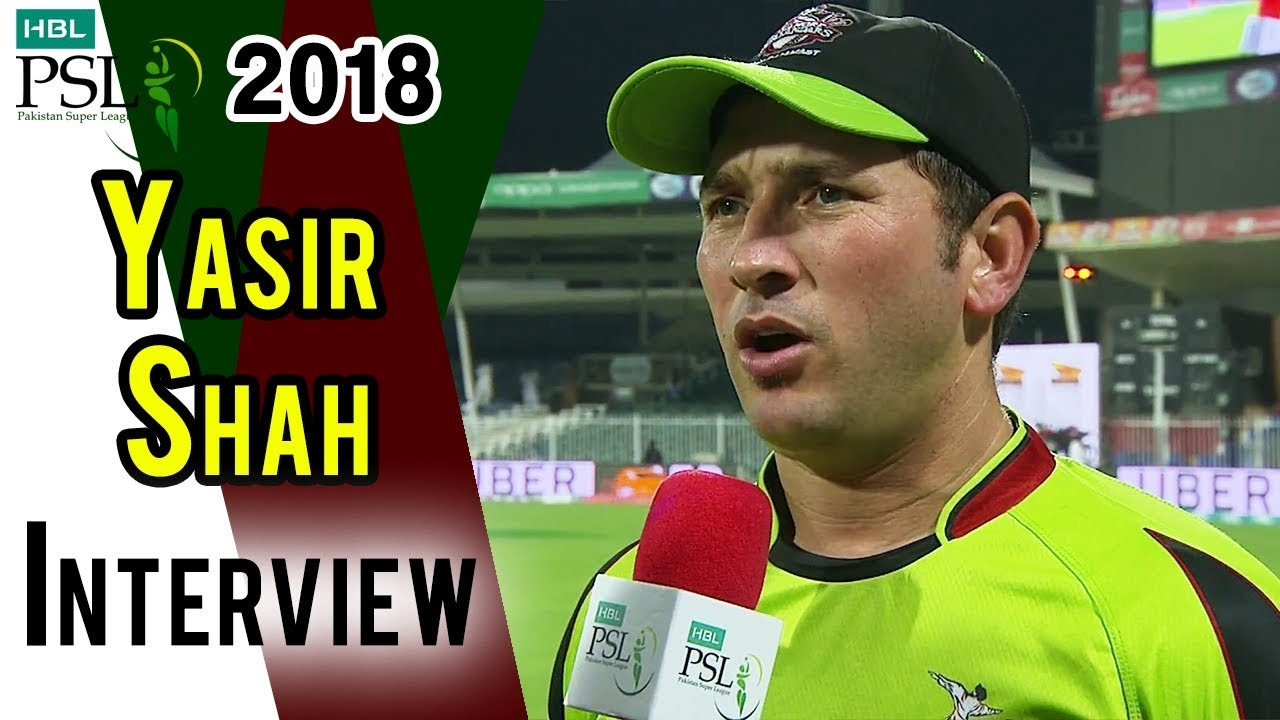 Yasir Shah Interview | Lahore Qalandars Vs Quetta Gladiators | Match 26 | 14 March | HBL PSL 2018