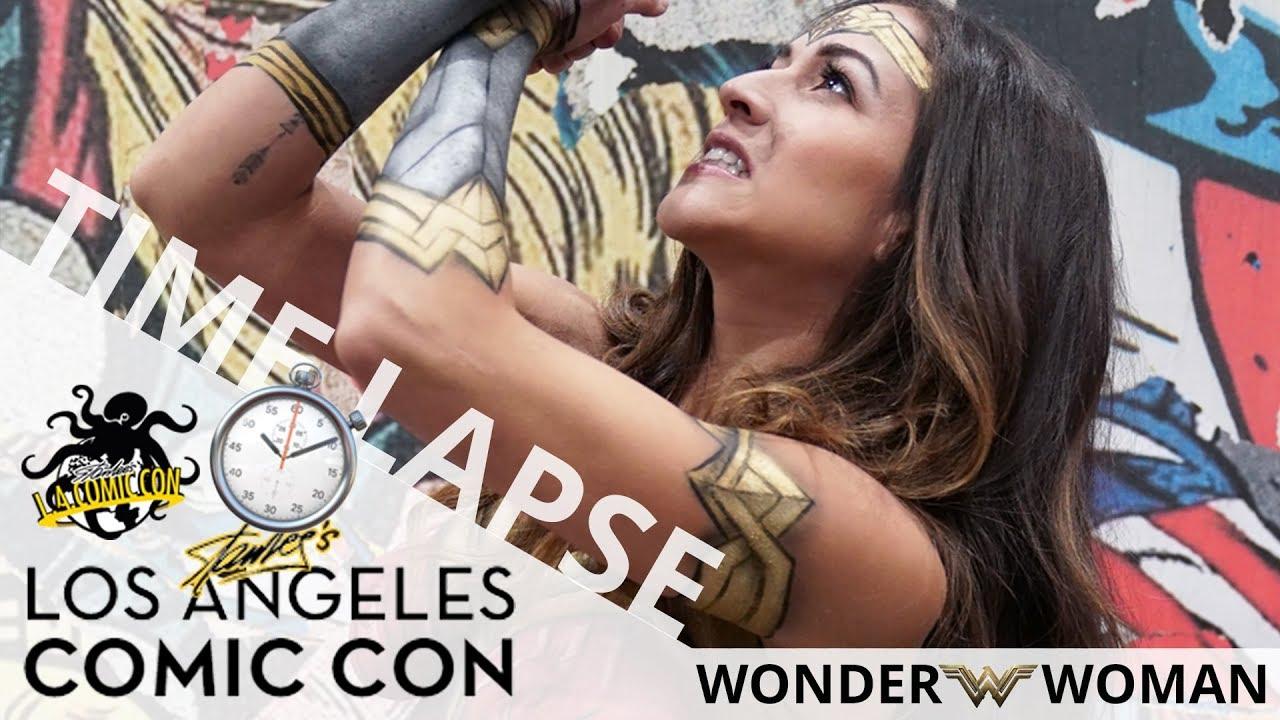 Wonder Woman (Body Paint Time Lapse) | Stan Lee's Los Angeles Comic Con 2017 | EI Makeup School