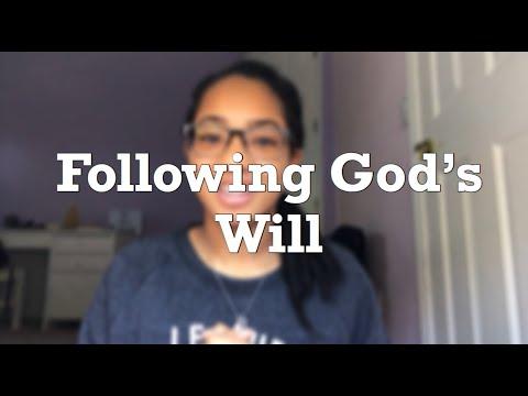 Following God's Will