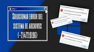 Solucionar error del sistema de archivos (-2147219196) | Imágenes no abren.