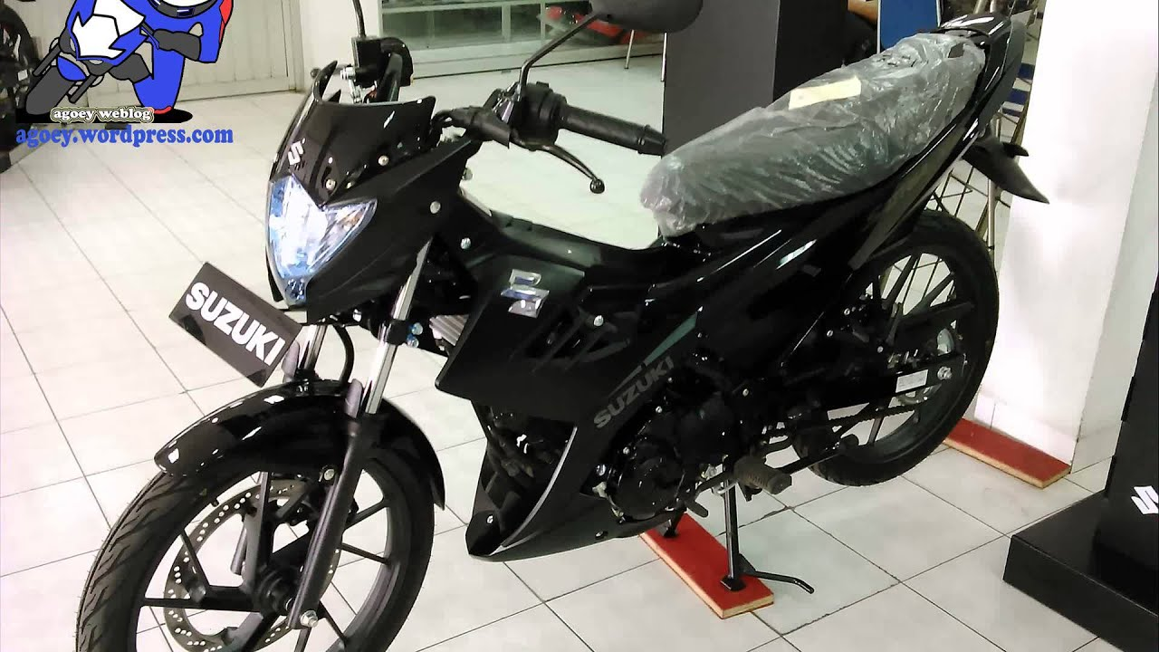 new suzuki satria fu150 black predator - youtube