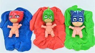 PJ 마스크 장난감으로 영어 색상 배우기 / 깜짝 장난…