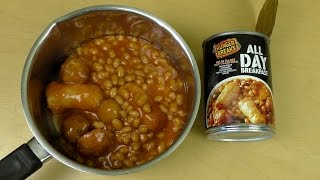 All Day Uk Breakfast With Baked Beans Pork & Egg Nuggets By Hunger Breaks