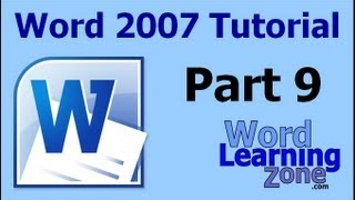 Microsoft Word 2007 Tutorial - part 09 of 13 - Formatting Text