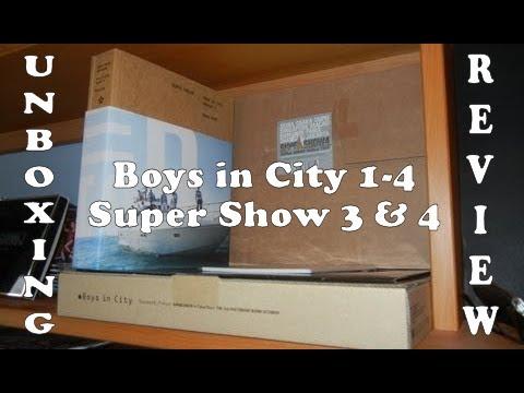 Unboxing Review - Photobooks - Boys in City 1 2 3 4 & Super Show 3 4 - Super Junior