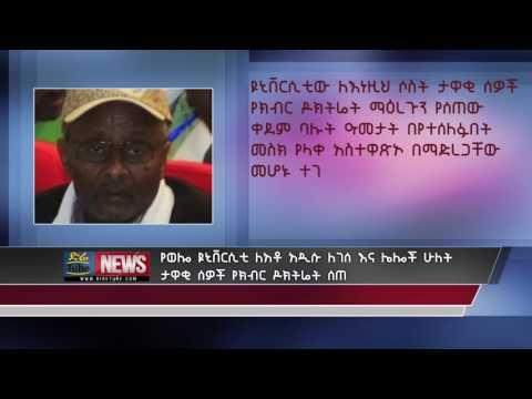 Wello University honored a doctorate degree to Adisu Legese