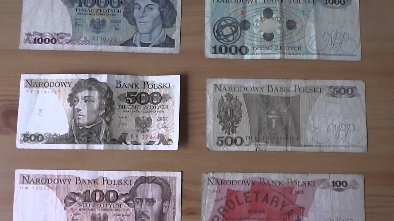 Collection Of Old Money Of Poland 50 Zloty Up To 5000 Zloty Youtube