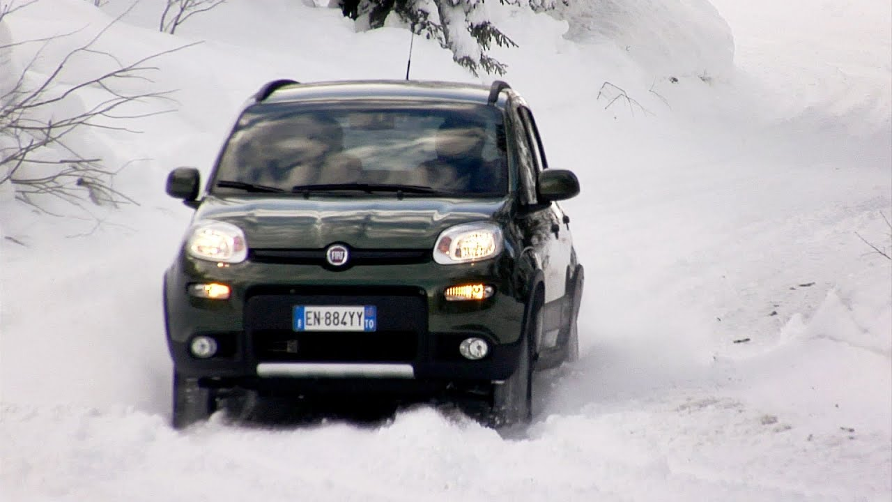 2013 fiat panda 4x4 snow test youtube. Black Bedroom Furniture Sets. Home Design Ideas