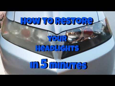 How to Restore Car Headlights in Five Minutes (BEFORE/AFTER on a 12 year old car)