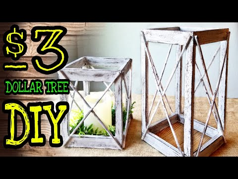 Dollar Tree DIY Lantern / Dollar Tree DIY Room Decor