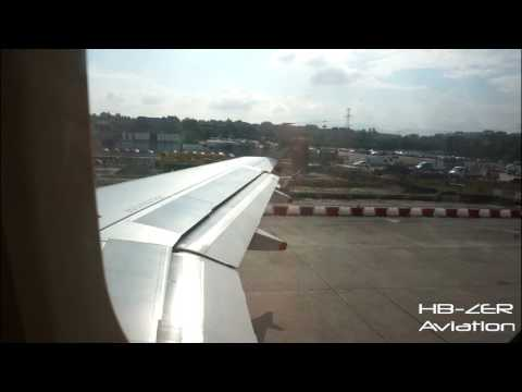 Airbus A319 British Airways - Taxi & Take-Off from Geneva to London Heathrow
