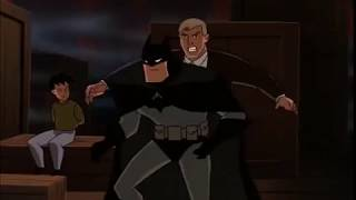 Batman saves Tim Drake from Two Face