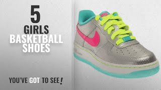 Top 10 Girls Basketball Shoes [2018]: Nike Boys 596728-033 Silver Size: Big Kid M