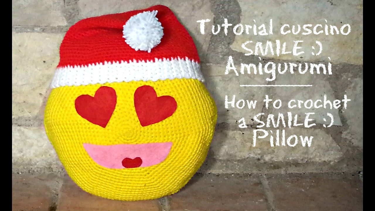 how to embroider a smile on crochet