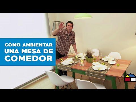 ¿Cómo hacer y ambientar una mesa de comedor?