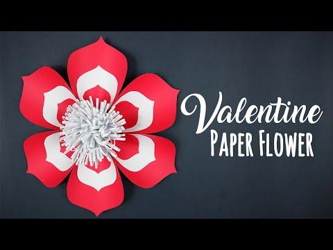 DIY Valentine Paper Flower